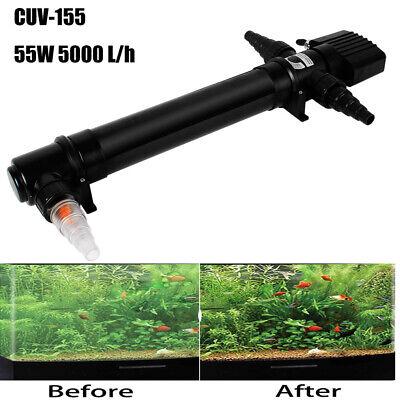 55 W Uv-C Water Steriliser Pond Filter Light Filter Uvc Tool Algae Killer Filter