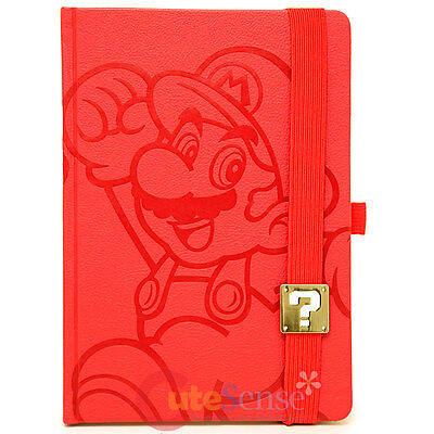Nintendo Super Mario Journal Premium Leather Cover Notebook A5 Sketchbook Note