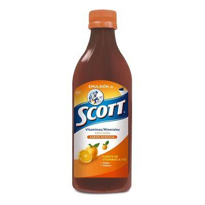 Scott Emulsion Orange Flavor - Family Size -12.4oz- Vitamin Supplement Cod Liver (Emulsion Scott)