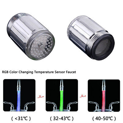 Tioodre 3 Farbe Led Licht ändern Wasserhahn Wasser Tippen Temperatur
