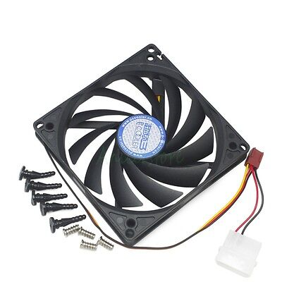 - 100mm & 90mm x15mm Dual Mounting Hole Cooling Fan for HTPC Computer Case CPU GPU