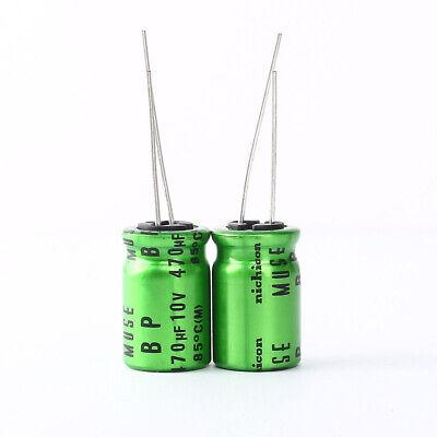 2pcs Japan Nichicon Muse Es Bp 470uf 10v 47mfd Audio Capacitor Caps