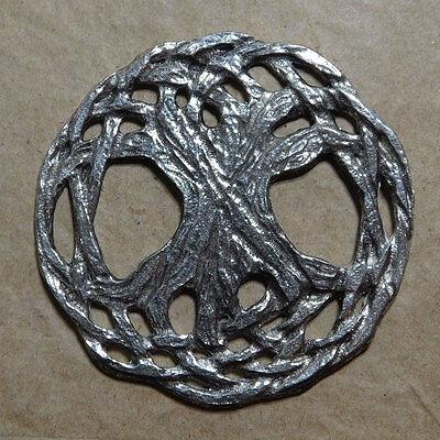 WELTENBAUM Zinn Montur Plakette Emblem für Mittelalter Trinkhorn Yggdrasil 671