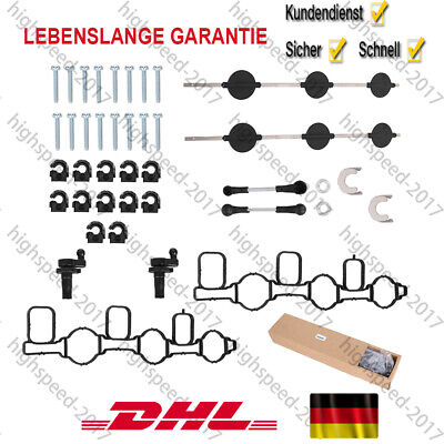 Saugrohrklappe Reparatursatz für VW Audi A4 A5 A6 A7 A8 Q5 2.7 TDI 059129711DC