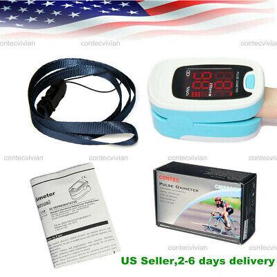 Fingertip Finger Pulse Oximeter Blood Oxygen Monitor Spo2 Heart Rate Meter -home