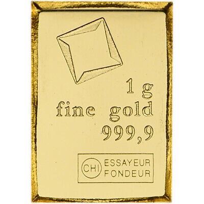 1 gram Gold Bar Valcambi Suisse from Gold CombiBar 999.9 Fine