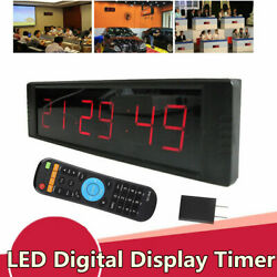 Wall Hanging Alarm Clock Timer Countdown timer LED Digital Display + IR Control