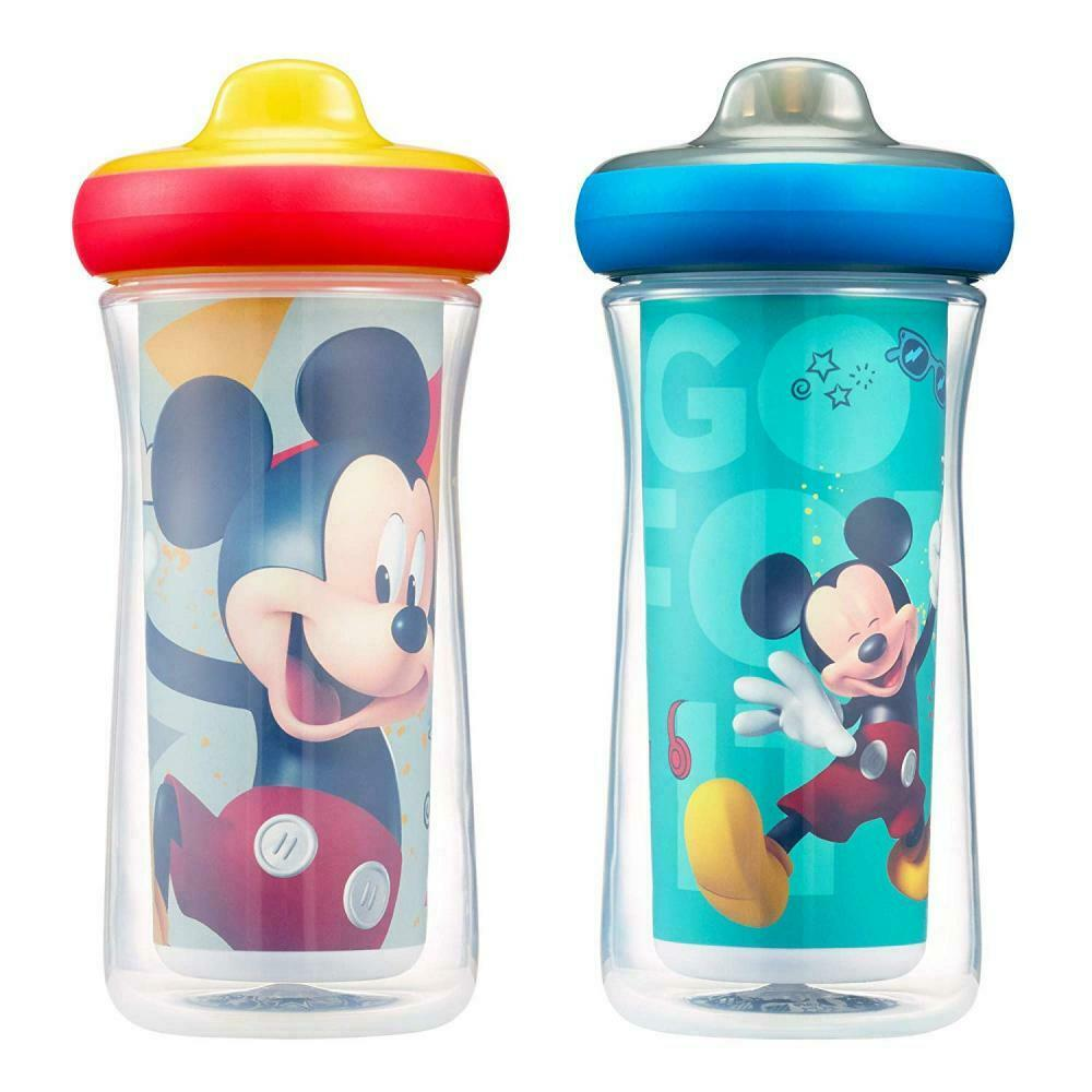 Disney Mickey Mouse Insulated Hard Spout Sippy Cups 9 Oz 2pk  Keep Drink Cool