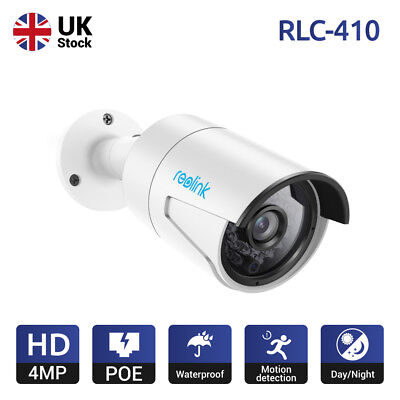 Reolink PoE IP Camera 4MP 1440P Home Security Waterproof Night Vision RLC-410