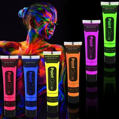 German Trendseller® 6 x UV - Bodypainting -  Körperfarben  Neon  Lichtfarbe