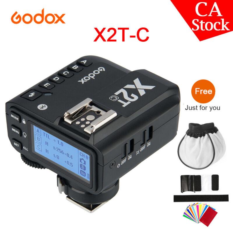 US Godox 2.4G TTL X2T-C HSS Wireless Bluetooth Strobe Flash For Canon Camera