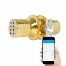 TurboLock TL-99 Bluetooth Smart Lock for Keyless Live Monitoring eKeys App Brass