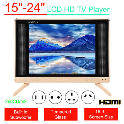 """15-24"""" HD Portable Smart LCD TV Mini LED Music Television Player Audio Subwoofer"""