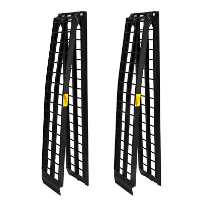2pcs 10ft Aluminum ATV Truck Loading Ramps Motorcycle Harley 1200 lbs Capacity