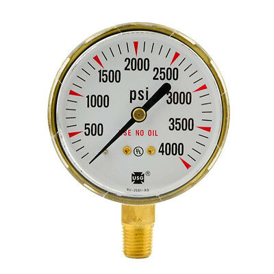 2-12 X 4000 Psi Welding Regulator Repair Replacement Gauge For Oxygen 2.5 Inch