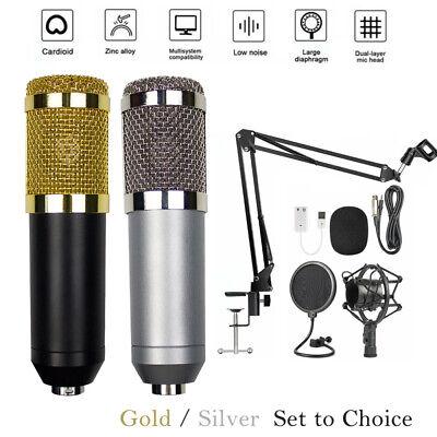 BM-800 Condenser Microphone Mic Kit Studio Audio Recording Stand Shock Mount