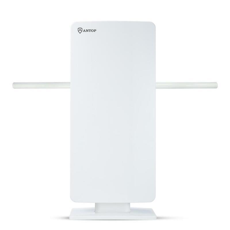 Antop AT-400BV Flat Panel Smartpass Amplified Outdoor/Indoor HDTV Antenna SMOKE