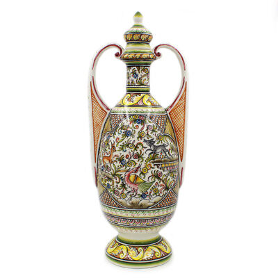 Coimbra Ceramics Hand-painted Large Covered Jar XVII Cent Recreation #281-3