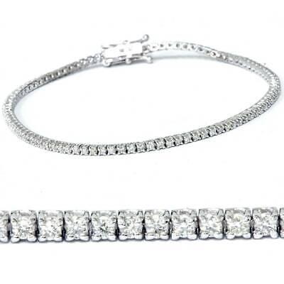 2ct Diamond Tennis Bracelet 14K White Gold 7