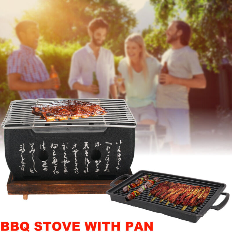 Barbecue Grill Carbon Furnace BBQ Stove with Frying Pan Japa
