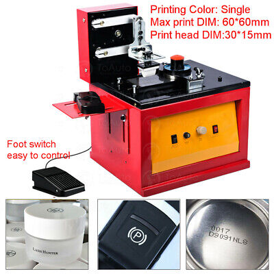 Electric Pad Printer Printing Machine For Logo Trademark Barcode Batch Date