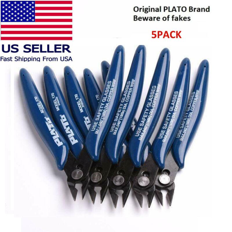 5PCS 170 Blue Flush Wire Cutter Diagonal Cutting Pliers Side Cutter Nipper