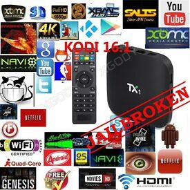 Android tv boxs fully loaded