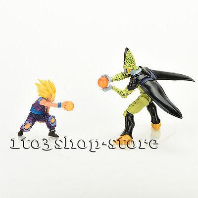 Dragon Ball Z Action Figures 2 pcs Toy Set: Super Saiyan Gohan vs Perfect Cell