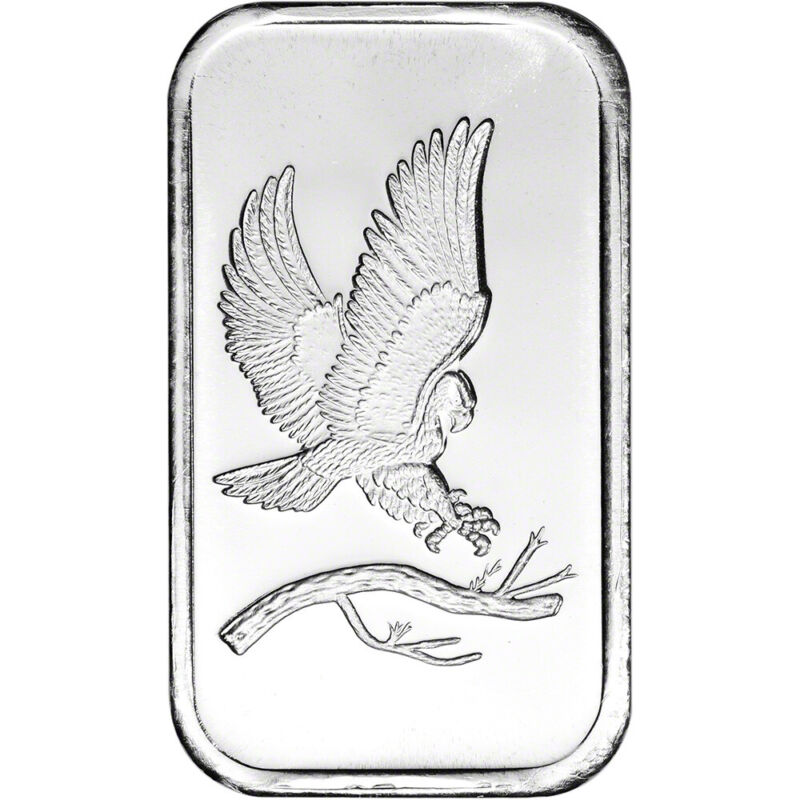 1 oz. SilverTowne Silver Bar - Bald Eagle Design - 999 Fine