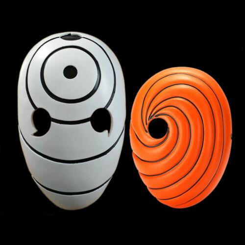 Naruto Akatsuki Tobi Uchiha Obito Costume Mask Helmet Halloween Cosplay Set