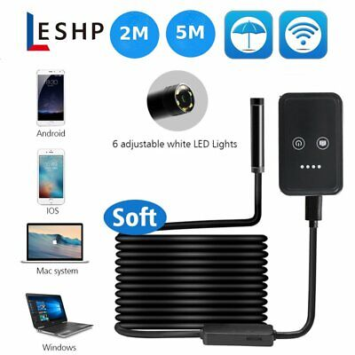 8mm Android Endoscope 6 Led Snake Borescope Usb Inspection Camera 2m5m Cable T0