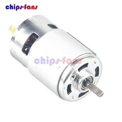 775 Dc 12v 4500rpm Large Torque High Speed Gear Motor Ball Bearing Low Noise