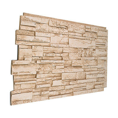 Faux Stone Panels - #137 Solid Color Faux Stacked Stone Wall Panel Made in USA Polyurethane