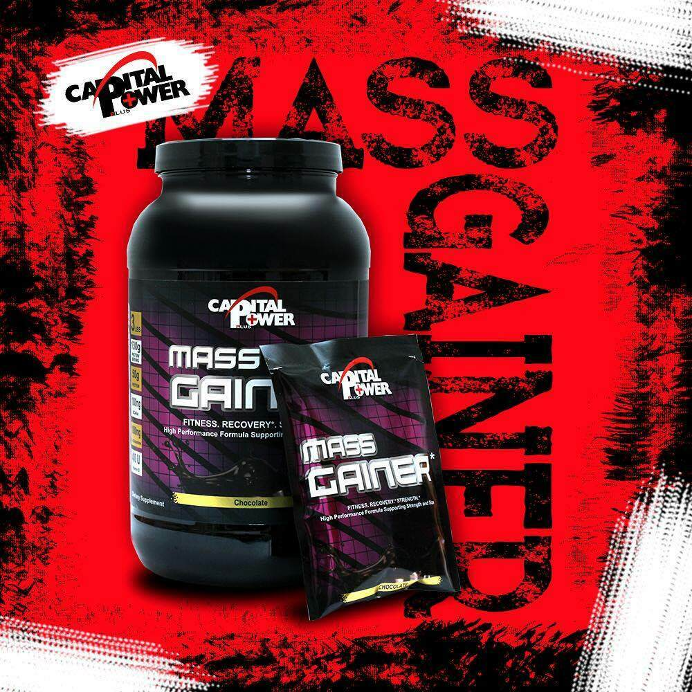 MASS Gainer Chocolate 3lb Mass Whey Protein Weight  fitness