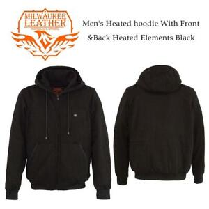 NEW Milwaukee performance MPM1713-SET-Black-MD Mens Heated hoodie With FrontBack Heated Elements Black, MD (44.5 Ch...