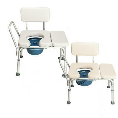 Heavy Duty Bedside Toilet Chair Shower Commode Seat Bathroom