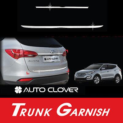Rear Trunk Garnish Chrome Molding Trim 2p for 2013 2016 Hyundai Santa Fe SPORT