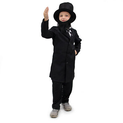 Honest Abe Abraham Lincoln US President Kids Children's Costume