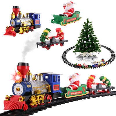 Vintage Christmas Train Set Round Track Kids Toy Under Xmas Tree Children Gift