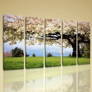 Print Landscape Cherry Blossom Tree Gallery Wrapped Wall Art Framed