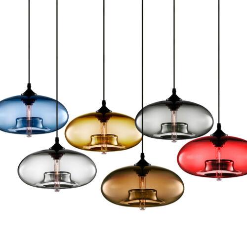 modern colored glass pendant lamp ceiling light