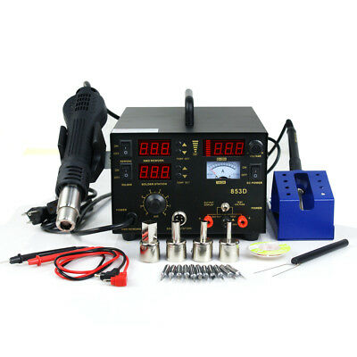 3 In 1 Soldering Iron Rework Stations Smd Hot Air Gun Desoldering 853d 700w