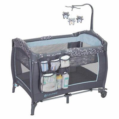 Baby Trend PY86B52B Trend-E Nursery Center Play Yard w/ Wheels, Starlight Blue Baby Trend Play Yard