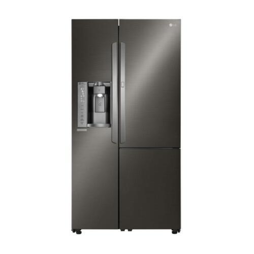 LG Door-in-Door 26.0 Cu. Ft. Side-by-Side Refrigerator with Thru-the-Door Ice and Water Black Stainless Steel LSXS26366D