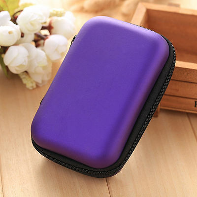 1PC Travel Portable Earphone Earbuds Storage Bag Case Card Holder Travel Zip Box