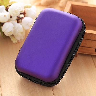 1PC Travel Portable Earphone Earbuds Storage Bag Case Card Holder Travel Zip Box