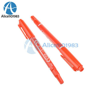 2pcs Ccl Anti-etching Pcb Circuit Board Ink Marker Pen For Diy Pcb Red