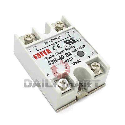 Fotek Ssr-40 Da 24v-380v 40a 250v Solid State Relay Module 3-32v Dc To Ac