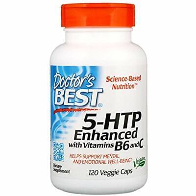 Doctor's Best HTB 5 Vitamins B6 And C Natural Serotonin Supplements 120 Veg