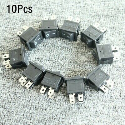 10pcs Io On-off 4 Pin Snap-in Rocker Boat Switch 6a250v 10a125v Ac Dpst